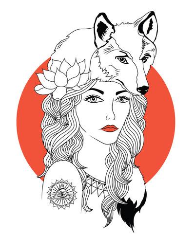 the girl and the wolf - alisha brunton