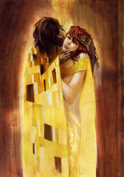 gustav-klimt-inspired-art-the-kiss-reinterpretation-4