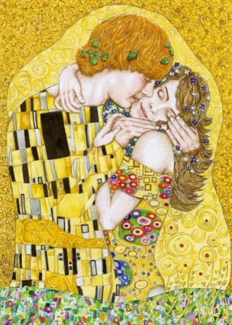 gustav-klimt-inspired-art-the-kiss-reinterpretation-5-594x834