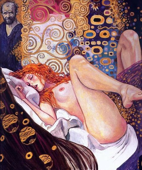 milo manara paying homage to Klimt