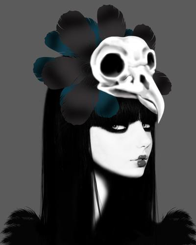 dark bird by elena..