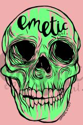 SKULLgreenpink watermarked