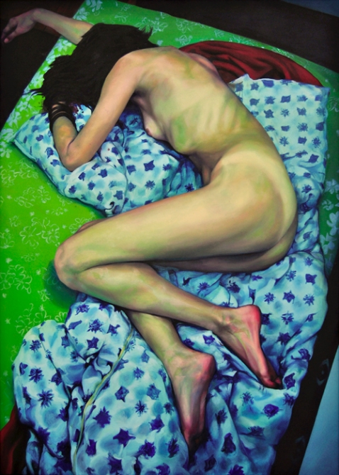 The moment after Katarina- oil on canvas-  100cm x 140cm