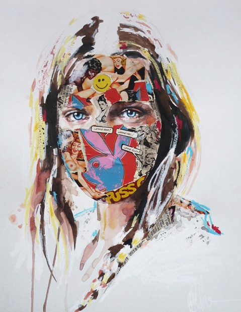 Sandra_chevrier_mixed_media_graphic_pop_art_Trend_01